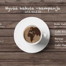 Hyvää Kahvia -kampanja starttaa 15.2.