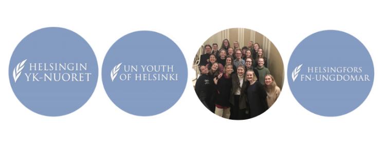 Helsingin YK-nuoret, UN Youth of Helsinki, Helsinforgs FN-Ungdomar, kansikuva Helsingin YK-nuorten hallituksesta